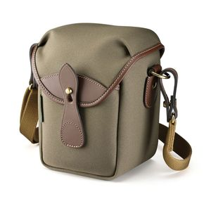 Billingham 72 Sage Fibrenyte and Chocolate Leather Camera Bag