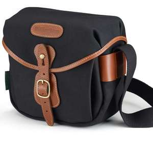 Billingham Hadley Digital Shoulder Bag - Black Canvas Tan Leather