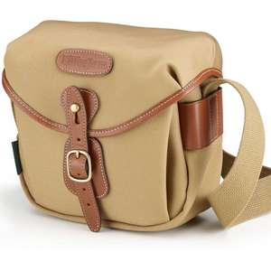 Billingham Hadley Digital Shoulder Bag - Khaki Canvas and Tan Leather