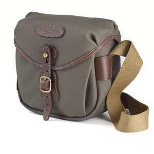 Billingham Hadley Digital Shoulder Bag - Sage FibreNyte Chocolate Leather