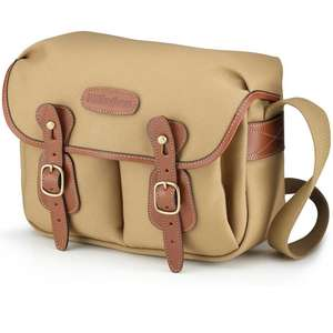 Billingham Hadley Small Shoulder Bag - Khaki Canvas Tan Leather