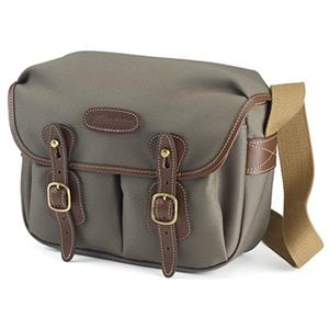 Billingham Hadley Small Shoulder Bag - Sage FibreNyte Chocolate Leather