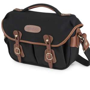 Billingham Hadley Small Pro Shoulder Bag - Black Canvas Tan Leather