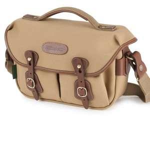 Billingham Hadley Small Pro Shoulder Bag - Khaki Canvas Tan Leather
