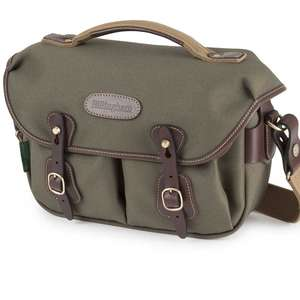 Billingham Hadley Small Pro Shoulder Bag - Sage FibreNyte Chocolate Leather