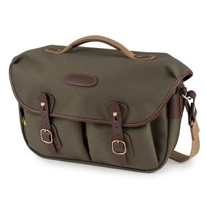 Billingham Hadley Pro 2020 Shoulder Bag | Sage FibreNyte & Chocolate Leather