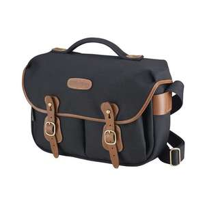 Billingham Hadley Pro Shoulder Bag - Black Canvas Tan Leather