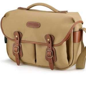 Billingham Hadley Pro Shoulder Bag - Khaki Canvas Tan Leather