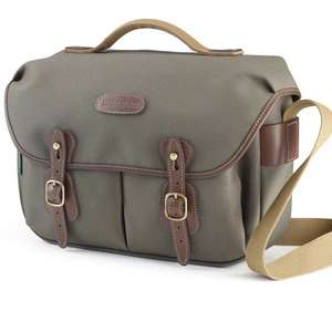 Billingham Hadley Pro Shoulder Bag - Sage Fibrenyte Chocolate Leather