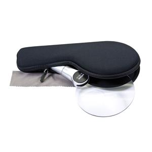 Dorr LL-110 LED Magnifier 110mm 2.5x 5x with Carry Case
