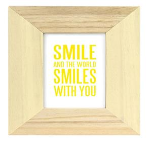 Candy Cream Wood 4x4 Photo Frame