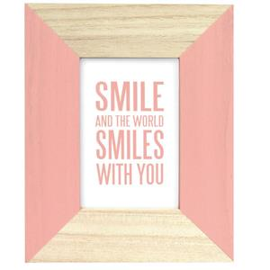 Candy Pink Wooden 7x5 Photo Frame
