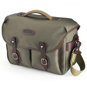 Billingham Hadley One Shoulder Bag - Sage FibreNyte Chocolate Leather