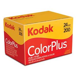 Kodak ColorPlus 200 ISO 24 Exp 35mm Colour Print Film