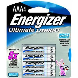 Energizer Ultimate Lithium AAA Batteries - Pack of 4