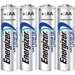 Energizer Ultimate Lithium AA 1.5v Batteries - 4 Pack
