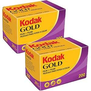 Kodak Gold 200 ISO 24 Exp 35mm Colour Print Film - Double Pack