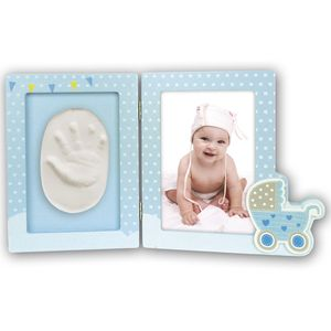 Baby Foot or Hand Impression Moulding Kit Blue 6x4 Photo Frame