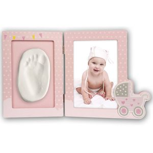 Baby Foot or Hand Impression Moulding Kit Pink 6x4 Photo Frame