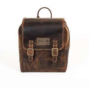 Gillis London Trafalgar Knapsack Leather Camera Backpack
