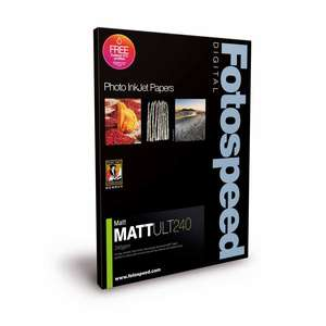 Fotospeed Matt Ultra 240 - A5 Pre-Scored Cards and Envelopes - 50 Sheets