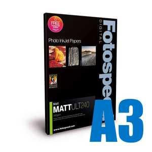 Fotospeed Matt Ultra 240 Photo Paper - A3 - 50 Sheets