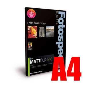 Fotospeed Matt DUO 240 Double Sided Photo Paper - A4 - 100 Sheet