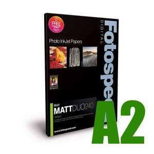 Fotospeed Matt DUO 240 Double Sided Photo Paper - A2 - 50 Sheet
