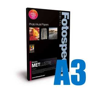 Fotospeed Metallic Lustre 275 Photo Paper - A3 - 25 Sheets
