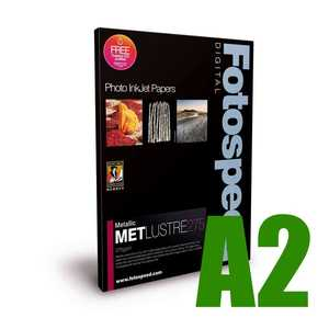 Fotospeed Metallic Lustre 275 Photo Paper - A2 - 25 Sheets