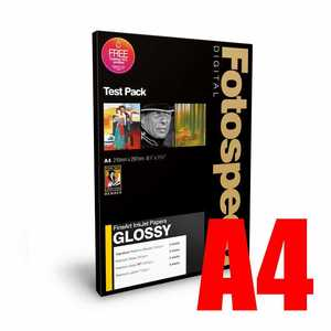 Fotospeed Fine Art Glossy Test Pack Photo Paper - A4 - 9 Sheets