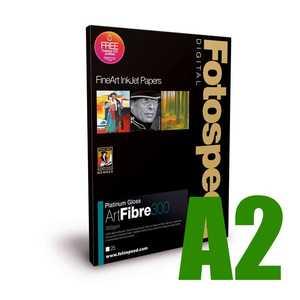 Fotospeed Platinum Gloss Art Fibre 300 Photo Paper - A2 - 25 Sheets