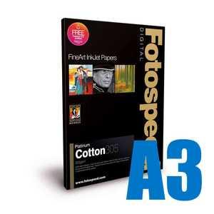 Fotospeed Platinum Cotton 305 Photo Paper - A3 - 25 Sheets