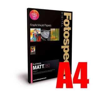 Fotospeed Platinum Matt 280 Photo Paper - A4 - 25 Sheets
