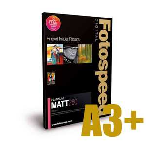 Fotospeed Platinum Matt 280 Photo Paper - A3+ - 25 Sheets