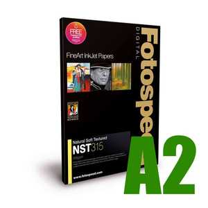 Fotospeed Natural Soft Textured 315 Photo Paper - A2 - 25 Sheets