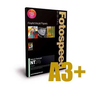 Fotospeed Natural Textured Bright White 315 Photo Paper - A3+ - 25 Sheets
