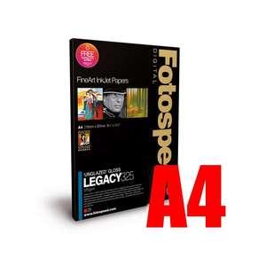 Fotospeed Legacy Gloss 325 Unglazed Gloss Photo Paper - A4 - 25 Sheets