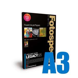 Fotospeed Legacy Gloss 325 Unglazed Gloss Photo Paper - A3 - 25 Sheets