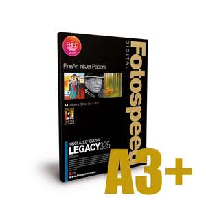 Fotospeed Legacy Gloss 325 Unglazed Gloss Photo Paper - A3+ - 25 Sheets