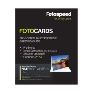 Fotospeed Fotocards NST Bright White 315 | A6 Size | 25 Cards