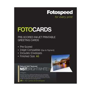 Fotospeed Fotocards NST Bright White 315 | A5 Size | 25 Cards