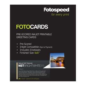 Fotospeed Fotocards NST Bright White 315 | 5x5
