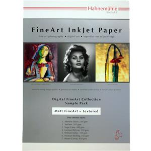 Hahnemuhle Matt Fine Art Textured Test Pack A4 Printing Paper - 14 Sheets