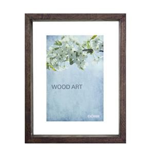 Dorr Wood Art Brown Wooden 6x4 Box Photo Frame