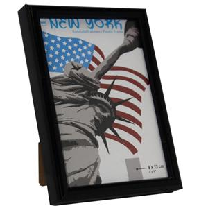 New York Black Photo Frame - 9x13cm
