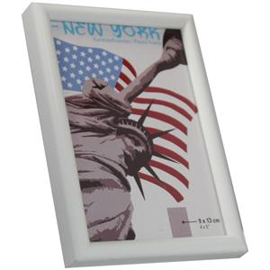 New York White Photo Frame - 9x13cm