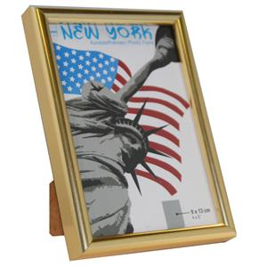 New York Gold Photo Frame - 9x13cm