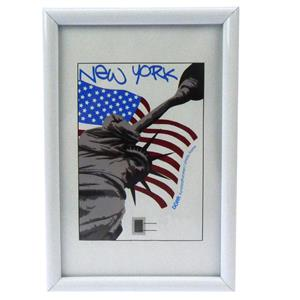 New York White Photo Frame - 10x15cm