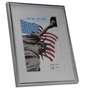 New York Silver Photo Frame - 18x24cm